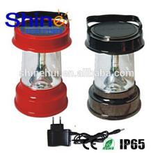 Garantia de comércio lanterna led solar com carregador de telemóvel, luz de emergência