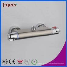 Níquel de controle de temperatura fyeer escovado torneira termostática do chuveiro (qh0202s)