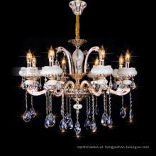 Lâmpada moderna do hotel, luz de cristal do candelabro da vela, lâmpada de pendente de cristal 88632