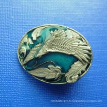 Badge à bille plaqué en bronze à trois plaques 3D (GZHY-BADGE-025)