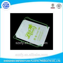 Manufacturer Custom Logo Printing Plastic Drawstring Bag