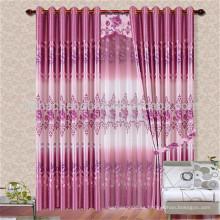 Hotsale diseño impreso cortina de la ventana con ojal