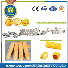 línea de procesamiento de alimentos de snacks de relleno de crema
