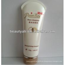 200g embalagem de tubo branco redondo cosméticos com tampa superior flip