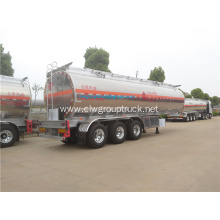 Three axle 42 CBM aluminum alloy oil semi-trailer