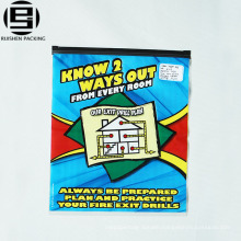 Ziplock plastic packing bags for clothes with custom printing