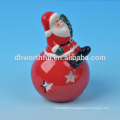 2016 factory directly new ceramic christmas decoration of snowman figurine