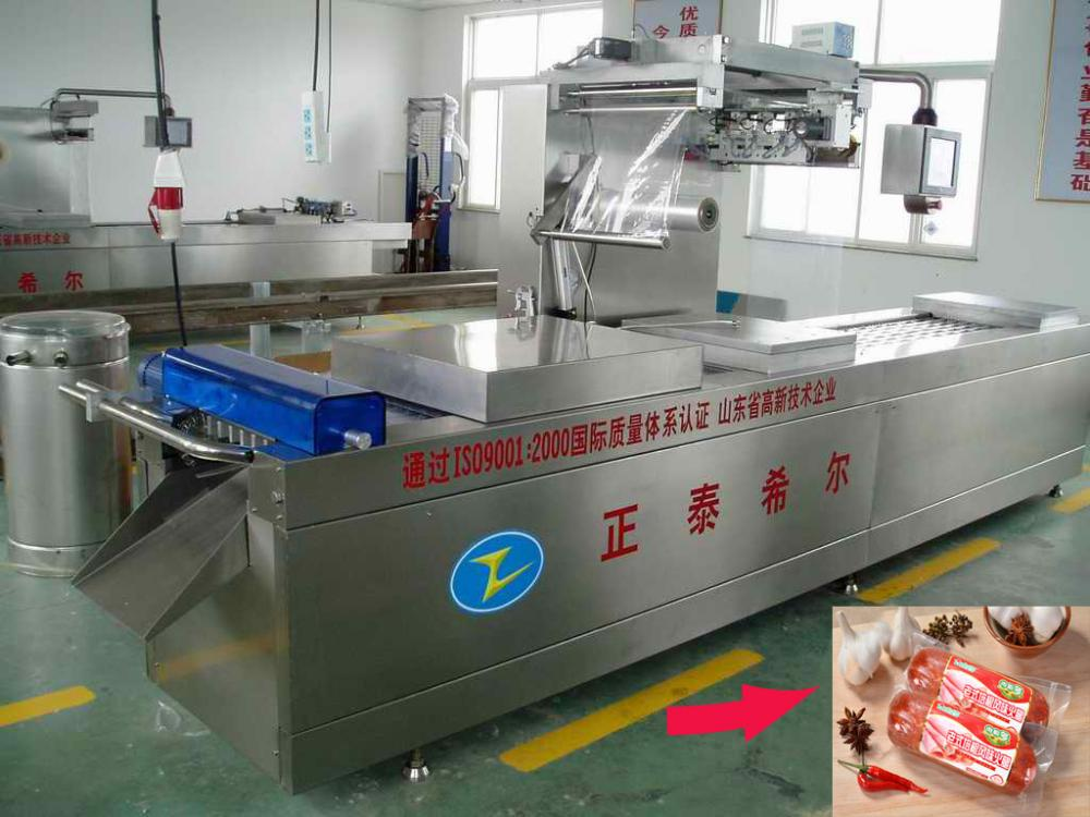 Fish Fillet & Ham Slices Row automatik Thermoforming Mesin Pembungkusan vakum