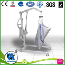 Shower trolley with patient lifter