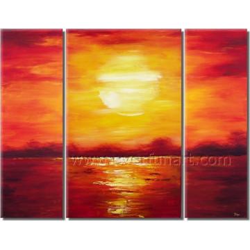 Pintura a óleo bonita do Seascape do nascer do sol da arte da lona para a decoração (SE-202)