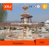 yellow hand carved granite water fountain decoration garden