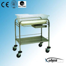 Hospital Furniture, Stainless Steel Hospital Bassinet Trolley (D-3)