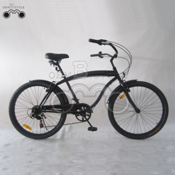 26inch Men 6speed preto Beach Cruiser bicicleta