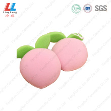 3D peach fruit bath sponge