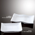 Beste verkaufende weiße Keramik-Porzellan-Rechteck-Platten