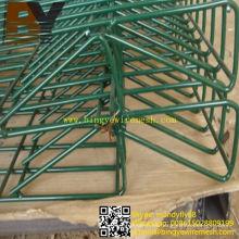 Valla de alambre de doble lazo ornamental recubierto de PVC