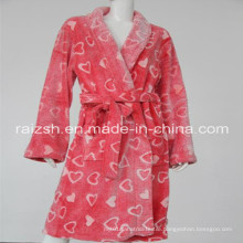 100% Polyester Coral Fleece 3D Printing Bathrobe
