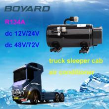 Unir o motor r134a 12v auto carro ac compressor boyard hb075z24 para caminhão montado guindaste quadro carbono estrada dc 24v ar condicionado