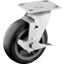 Ruedas bloqueables PU de la rueda de rodadura de alta resistencia
