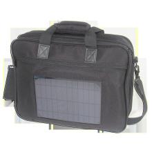 Bolsa de laptop solar de nylon de 5watts, bolsa de notebook solar com saco de laptop solar de nylon 5000mah, saco de notebook solar com bateria 5000mah