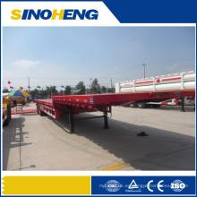 Precio competitivo semirremolque de plataforma plana extensible de 60 toneladas Tri Axle