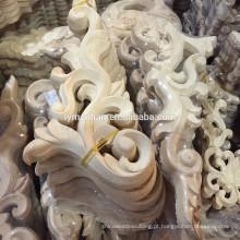 mão não pintada esculpida móveis de madeira onlays