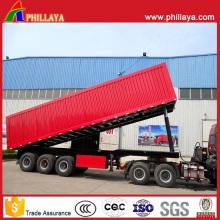Boîte hydraulique de 60tons basculant le camion semi-remorque de vidage d'essieu de 3 camions