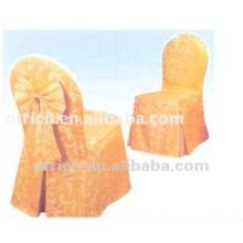 capa de cadeira do jacquard poliéster 100% e toalha de mesa para banquete, hotel