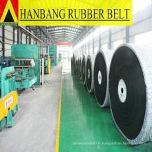 fourniture de bande transporteuse en caoutchouc pour l'extraction du charbon