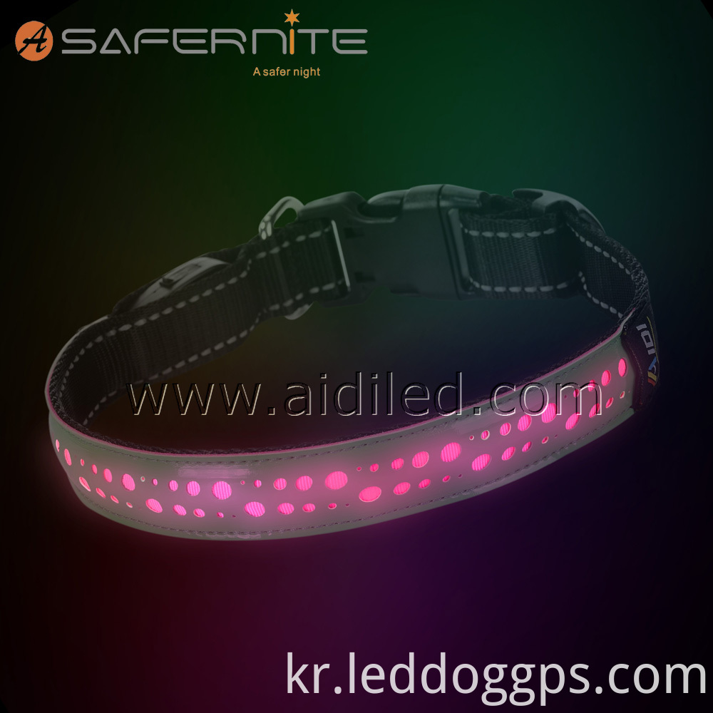 Flashing Lights Dog Collar