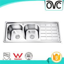 Fregadero de cocina de doble cuenco de acero inoxidable más nuevo en bangladesh Fregadero de cocina de cuenco doble de acero inoxidable más nuevo en bangladesh