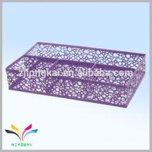 Mémoire en métal de haute qualité en carton violet, journal intime avec porte-stylo en métal