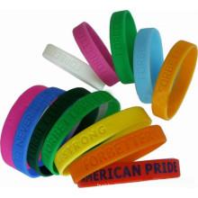 2016 Custom Silicone Cheap Promoção Wristbands