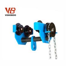 VOHOBOO Comercio al por mayor Manual Universal Empuje I Viga monorraíl Llanura Trolley Para Alzamiento