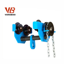 VOHOBOO Wholesale Universal Manual Push I Beam Monorail Plain Trolley For Hoist