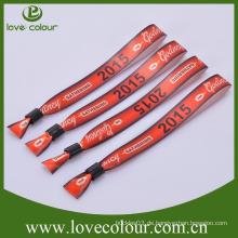 Großhandel direkt benutzerdefinierte Stoff Wristband mit Namen