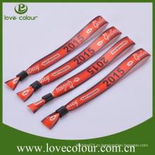 Оптовый непосредственно изготовленный на заказ wristband ткани с именем