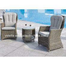 PE Rattan Bistro Garten Chatting Set Freizeit Stuhl