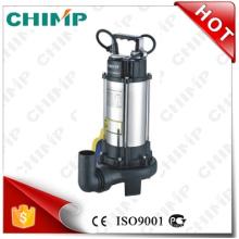 Bombas de água chinesas da água de esgoto do impulsor 1.1kw do corte da fabricação do chimpanzé (V1100D)
