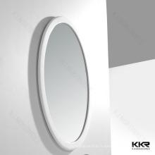Rétroviseurs ovales de salle de bains de cadre de surface solide de conception