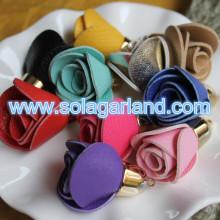 30 * 40MM suni deri gül çiçek Fringe Püskül için el çantası