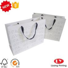 Bolsa de papel colorida para regalo de compras con logotipo personalizado