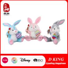 Presente personalizado do festival para o coelho enchido Easter do brinquedo do luxuoso