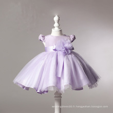 Robes de fillette en organza violet
