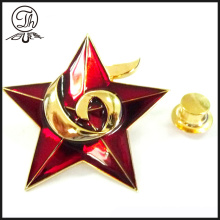 3D transparent paint star pin badge