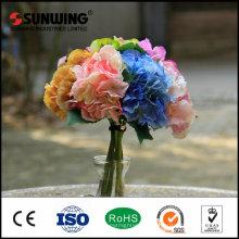 flores rosadas artificiales de la seda plástica para la decoración de la boda