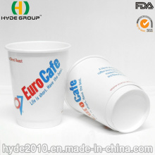 Taza de café de papel de pared doble disponible 8oz con las tapas