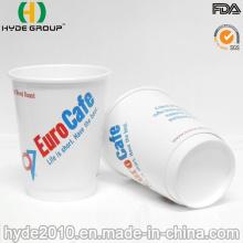 Tasse jetable de café de papier peint de double de 8oz avec des couvercles