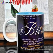 Hot vendendo Quanlity alto 11oz sublimação em branco canecas de café cerâmicas para vendas por grosso