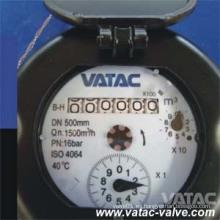 Medidor de agua de acero inoxidable Vatac Pn16